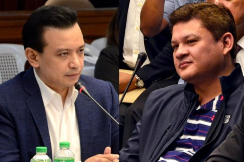 MANILA. Senator Antonio Trillanes IV and presidential son Paolo Duterte. (SunStar File)