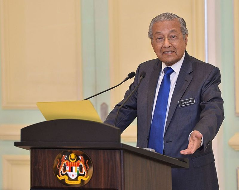 MALAYSIA. Malaysian Prime Minister Mahathir Mohamad speaks during a press conference at prime minister office in Putrajaya, on Friday, April 5, 2019. (AP)