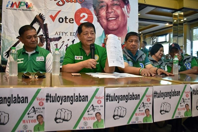 BAGUIO. Backed by the slate of the Timpuyog Ti Baguio led by Baguio City Mayor Mauricio Domogan and the other supporters, City Councilor Edgar Avila vows to continue the race to the mayoralty seat despite the Comelec resolution declaring his candidacy