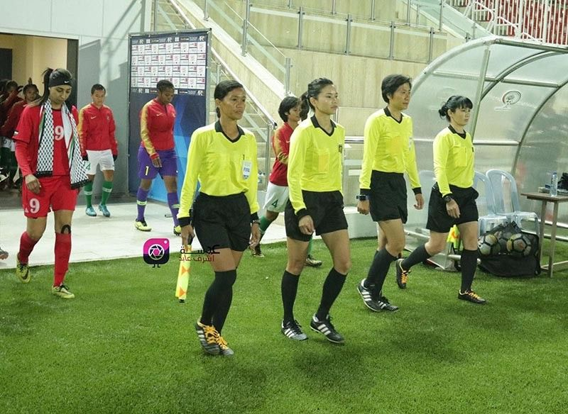 PALESTINE. Davao City's Merlo Silva Albano, left on first row, is shown with other referees during the Tokyo 2020 Olympics women's football first qualifying round in Palestine in 2018. (Contributed Photo)