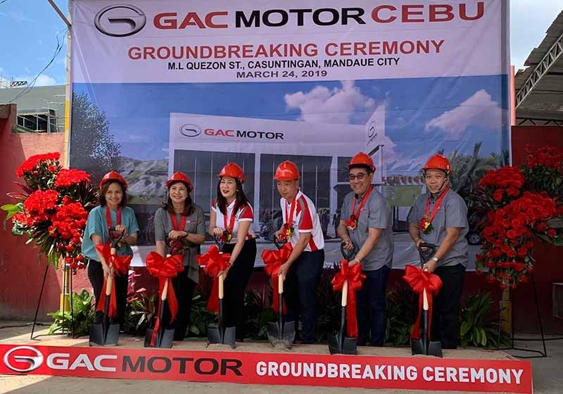From left, Legado Motors Inc. (LMI) dealer development manager Dang San Juan, LMI chief financial officer Regina Lim, V Prime Motors Inc. (VPMI) chief operating officer Angeli Lim, VPMI chief executive officer Vince Lim, LMI chief executive officer Wilbert Lim and LMI vice president for sales and operations Giovanni Frias. (Contributed Photos)