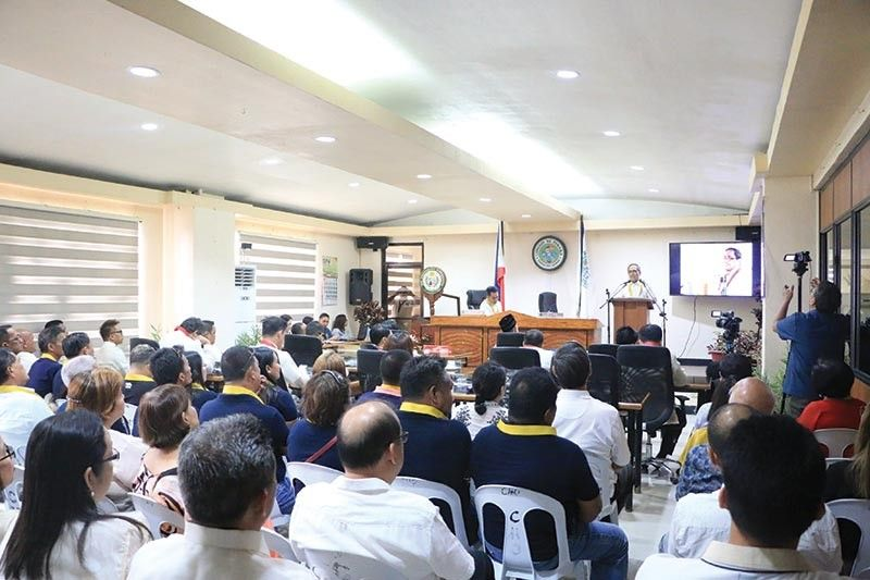 Panabo City Mayor James G. Gamao during his 4th State of the City Address.