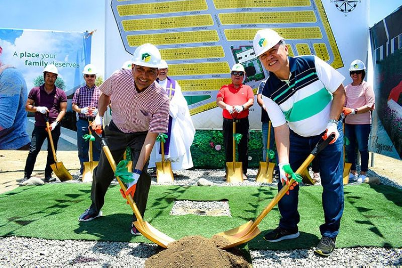 MANILA. On hand for the St. Joseph Homes Calamba Phase 2 groundbreaking were (from left) Peter F. Castro, PA Properties SVP-Operations, and Jonathan Lu, PA Properties president. (Contributed photo)