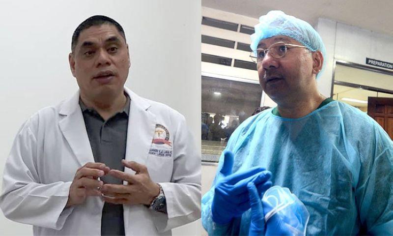CEBU. Dr. Benjamin Lara (left), PNP's medico-legal officer, and Dr. Erwin Erfe, PAO's forensic team director. (SunStar File)