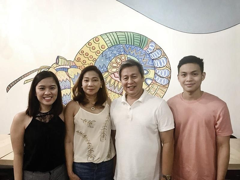 ALL IN THE FAMILY. The Bascones family of the resto Fishes Seafood & Wine at Il Corso, from left, administrative and marketing manager Jocille, parents Mary Lilian and Nelson, and operations manager Jeru.