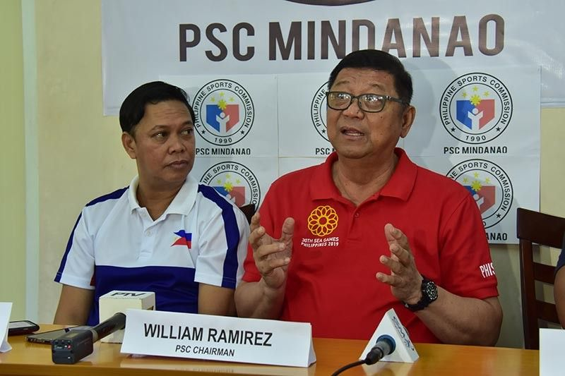DAVAO. Right, Philippine Sports Commission (PSC) chairman William