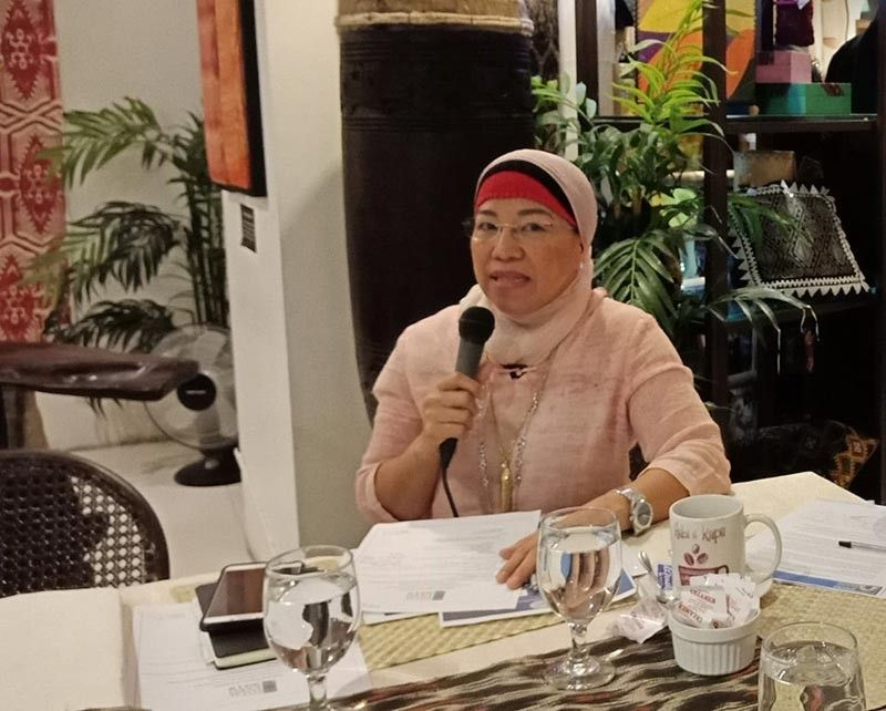 DAVAO. Universal Islamic Center president Marilou Ampuan encouraged the six identified local Halal certifiers to also consider group certification for small businesses. (Photo by Lyka Casamayor)