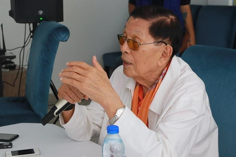 Former senator Juan Ponce Enrile Sr., who is again seeking a Senate seat, says President Rodrigo Duterte is doing the right thing. (Contributed Photo)