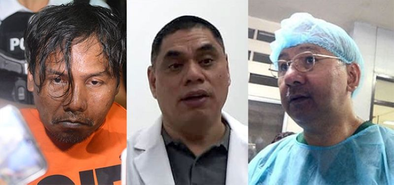 CEBU. From left: Self-confessed murderer Renato Llenes, PNP medico-legal officer Supt. Benjamin Lara, and Dr. Erwin Erfe of PAO's forensic division. (SunStar File)