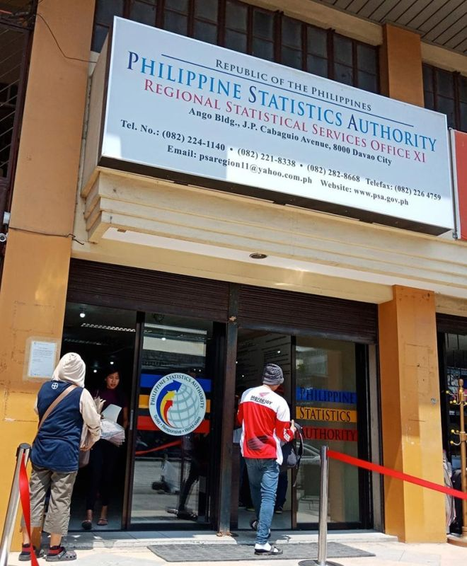 DAVAO. The Philippine Statistics Authority Davao regional office (PSA-11) said the poverty threshold of P10,481 a month is enough for a family of five to meet their minimum basic needs. (Photo by Lyka Casamayor)