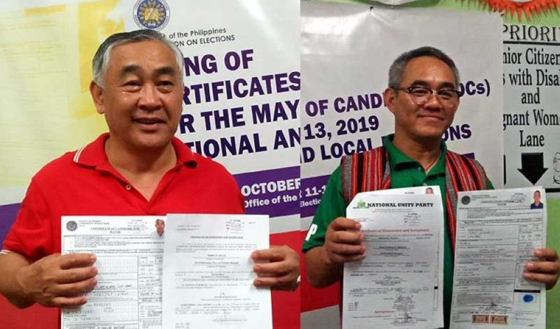LA TRINIDAD. Former allies La Trinidad Mayor Romeo Salda and Vice–Mayor Joey Marrero will go head to head against each other as they seek for the town's top elective post. (Lauren Alimondo)