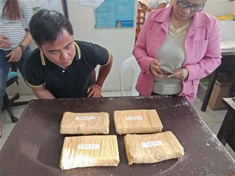 SURIGAO. The four packs of cocaine that were