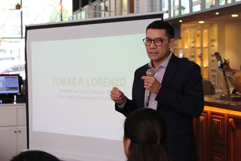 MANILA. Tomas P. Lorenzo, president and CEO of Torre Lorenzo Development Corporation, shares the company's plans for 2019. (PR)