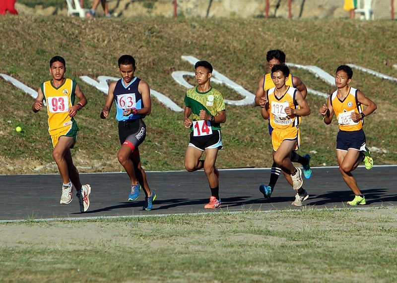 BENGUET. Benguet runner Emerson Batanes outpaces other runners during the 1500 meters secondary boys finals to win the gold medal in the Caraa meet held February earlier this year. Benguet is hoping to improve its medal standings in the next Caraa with the creation of a provincial sports commission. (Photo by Roderick Osis)