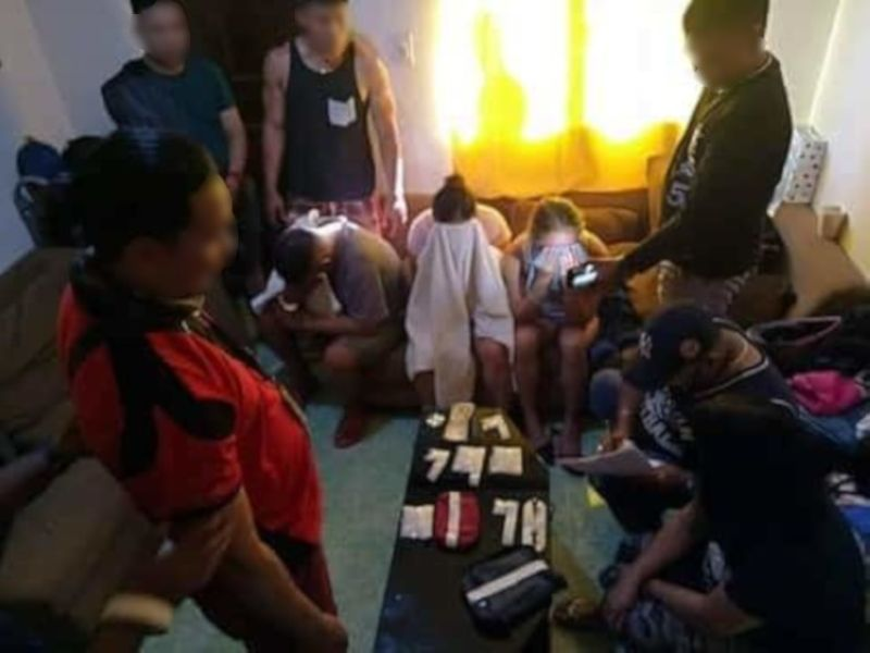 CEBU. The leader of the Abellana Drug Group linked to a P120 million drug haul in 2017 and high value target level 2 was arrested on Sunday April 14. (Photo courtesy of Itug-an ni CD Facebook page)