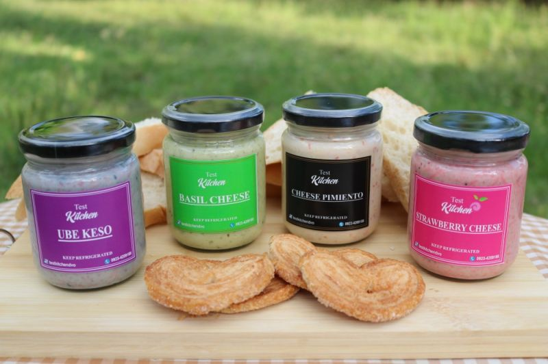 DAVAO. Test Kitchen's products (from left): Ube Keso, Basil Cheese, Cheese Pimiento, and Strawberry Cheese. (Contributed photo)