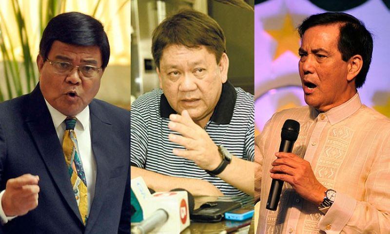 CEBU. (From left) Cebu City Vice Mayor Edgar Labella, Mayor Tomas Osmena, and former mayor Mike Rama. (SunStar File)