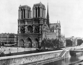 FRANCE. This 1911 file photo shows the Notre Dame Cathedral on the island called Ile de la Cite in Paris. Art experts around the world reacted with horror to news of the fire that ravaged cathedral on Monday, April 15, 2019. One shell-shocked art expert is calling the beloved Gothic masterpiece 'one of the great monuments to the best of civilization.' (AP)