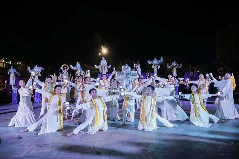 PAMPANGA. Various performing arts groups in Angeles City converge to perform a dramatic dance interpretation of