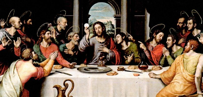 THE LAST SUPPER of Jesus Christ with His 12 disciples.
