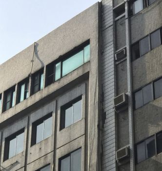 This image shows a damage at a building in Taipei, Taiwan following an earthquake Thursday, April 18, 2019. A strong earthquake struck Taiwan's east coast Thursday afternoon, according to the island's Central Weather Bureau. (AP Photo)