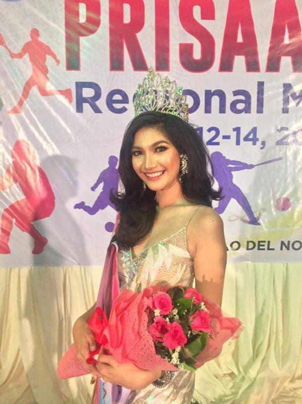 DAVAO. Brigitte Flor Mercene wins  Mutya ng Prisaa 11 Meet held at the Pedro San Jose gym, University of Mindanao (UM) Tagum College over the weekend. (Contributed photo)