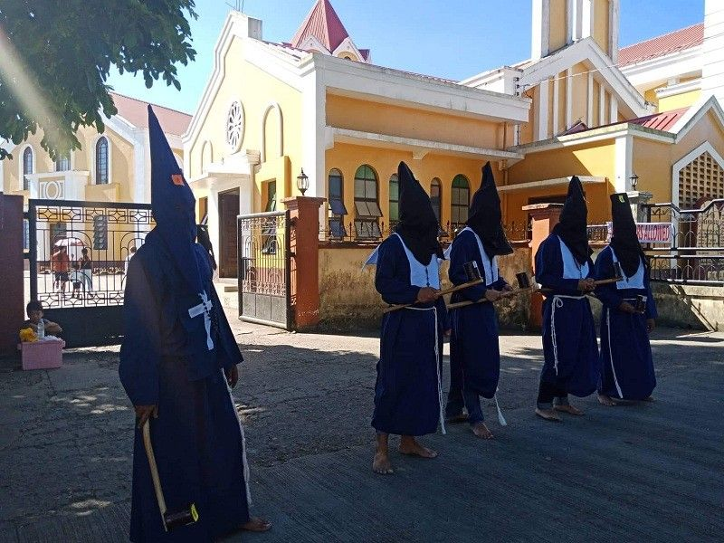 LEYTE. The hooded Penitentes of Palo, Leyte during the Holy Week observance in the town. (Photo by Marie Tonette Grace Marticio)