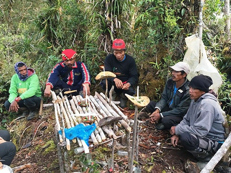 Indigenous ritual to invite the spirit of Apo Datu Nanikunan at Mt. Kilad-udan, an ancestral forest at Manolo Fortich. (Photo by Joy M. Montecalvo)