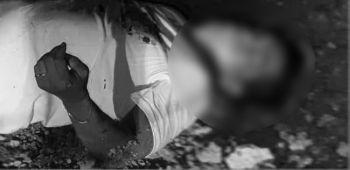 CEBU. Gitino pa sa kapulisan sa siyudad ang Mandaue kung kinsa ning tawhana (naa sa hulagway) nga napalgang patay ug gidudahang gi-salvage sa Barangay Casili, sa maong dakbayan, niadtong gabii sa Biyernes Santo, Abril 19. (Tampo hulagway)