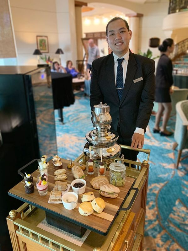 Rolling in the cart with the new High Tea menu