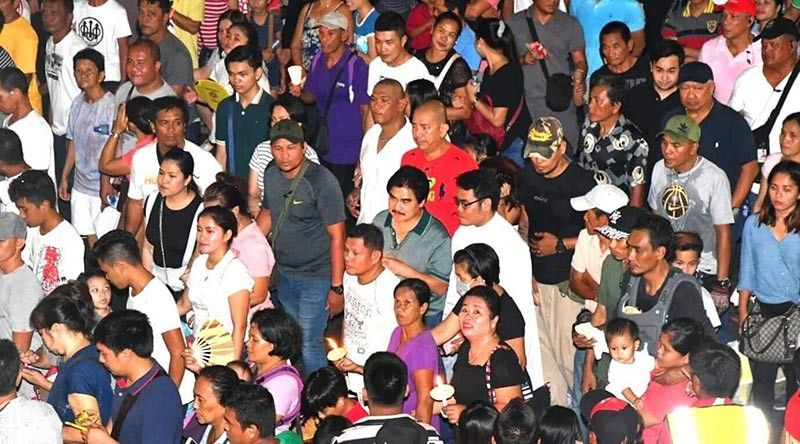 Bacolod City Mayor Evelio R. Leonardia was spotted joining the procession on Good Friday. (PIO Photo)