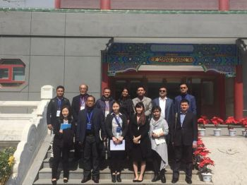 Asian journalists in a recent visit in China. Two delegates are from Sun Star Davao - former EIC now columnist Stella Estremera and social media editor Ace Perez.  (Contributed Photo)