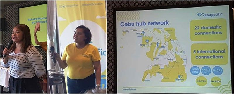 CEBU PACIFIC AIR. Blessie Cruz and staff during a media lunch update on the new Shanghai destination.