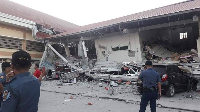 PAMPANGA. The Chuzon Supermarket in Porac, Pampanga collapsed after a magnitude 6.1 earthquake struck near Castillejos, Zambales on Monday, April 22, 2019. (Photo courtesy of Tune Hokage keng Porac)