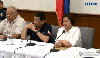 PAMPANGA. President Rodrigo Duterte presides over a situation briefing at the Provincial Capitol in San Fernando City, Pampanga on April 23, 2019. (Screenshot from Presidential Communication's video)