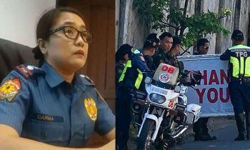 CEBU. Cebu City Police Office Chief Royina Garma (left) and cops outside the house of Cebu City Mayor Tomas Osmeña. (SunStar File/Photo from Osmeña's Facebook page)