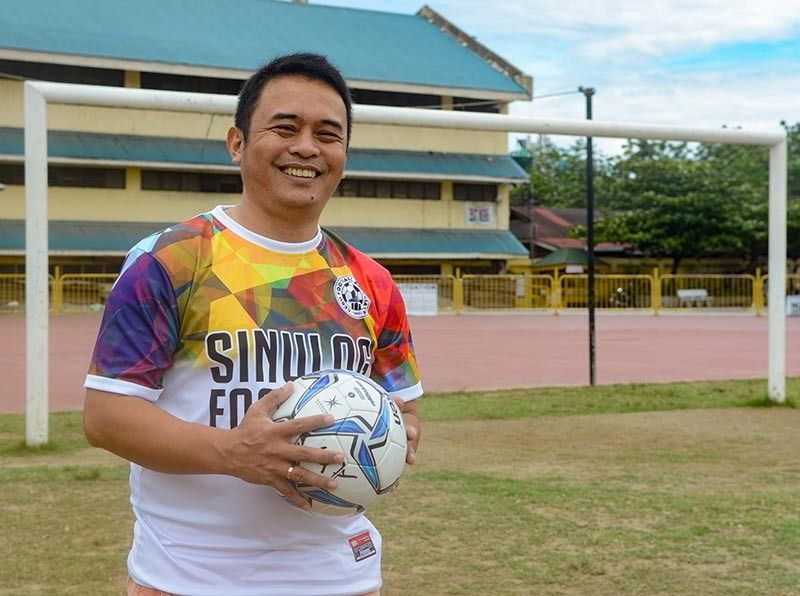 FUTURE PERFECT.  Central Visayas Football Association president Rodney Orale is hoping to build on the unity and the gains made by the Cebu Football Association. (SunStar photo / Arni Aclao)