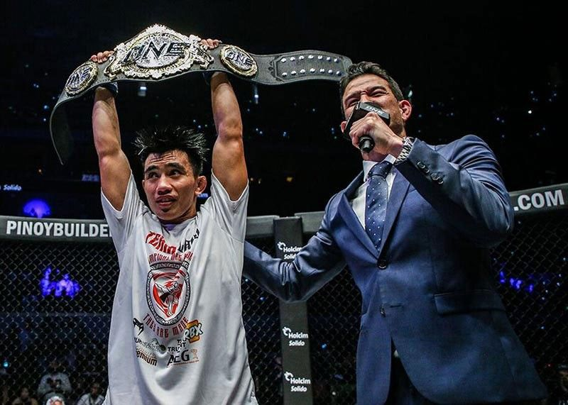 LONG WAY TO THE TOP. After recapturing the ONE starwweight world title a few weeks ago, Team Lakay coach Mark Sangiao believes Joshua Pacio has yet to reach his full potential. One Championship photo