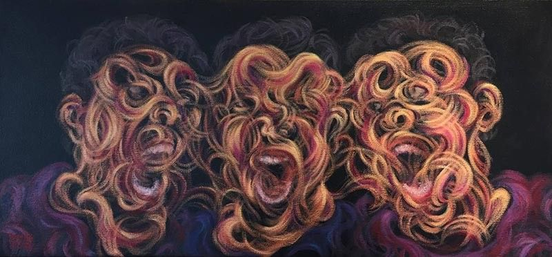 "Artist: Dennis Puzon Title: ""Vicious"" Medium: Acrylic on Canvas Size: 12x26 inches Year: 2019. (Photo by Lyndon Balcorta)"