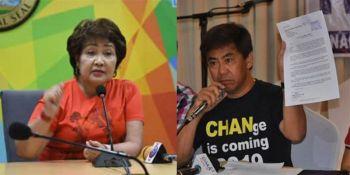 NAGKAINIT: Ang mga kampo nila ni Lapu-Lapu City Mayor Paz Radaza (wala) ug mayoral candidate Junard