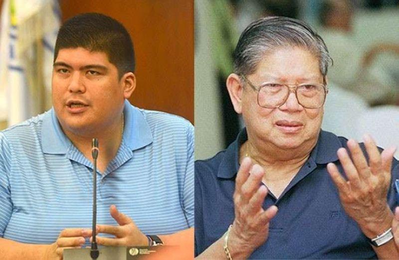 CEBU. Mandaue City Mayor Luigi Quisumbing and his grandfather, Norberto Quisumbing Jr. (SunStar File)