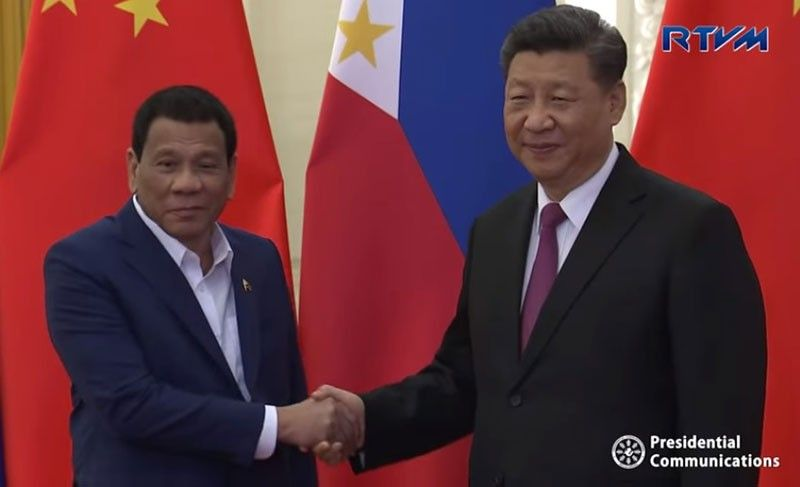 BEIJING. President Rodrigo Duterte and Chinese President Xi Jinping hold bilateral talks on April 25, 2019, a day ahead of the Belt and Road Forum. (Photo grabbed from RTVM video)