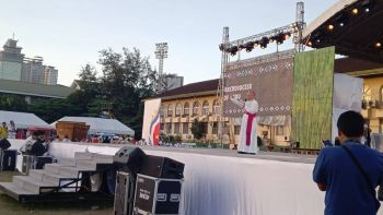 CEBU. Cebu  Archbishop Jose Palma welcomed the delegates and pilgrims to the National Youth Day 2019 hosted by the Archdiocese of Cebu, Wednesday, April 24. (Wenilyn Sabalo)