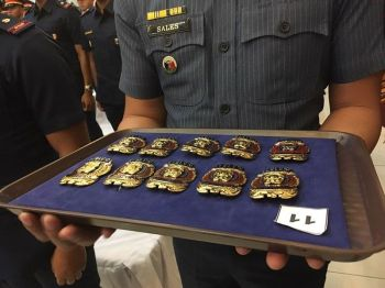 MANILA, Badges of honor were awarded to the new commissioned officers upon their graduation from the Philippine National Police (PNP) Academy. (Photo by Third Anne Peralta-Malonzo/SunStar Philippines)