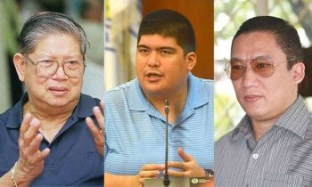 CEBU. Dr. Norberto Quisumbing Jr., Mandaue City Mayor Luigi Quisumbing, and Representative Jonas Cortes. (SunStar File)