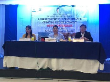 DAVAO. Davao Region's economy posted an 8.6 percent growth in 2018, which is slower than the 10.7 percent growth in 2017, the Philippine Statistics Authority-Davao data showed. (Lyka Amethyst H. Casamayor)