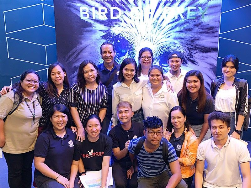 The Philippine Eagle Foundation team at the screening of the Bird of Prey movie at SM Lanang Cinema. (Jinggoy I. Salvador)
