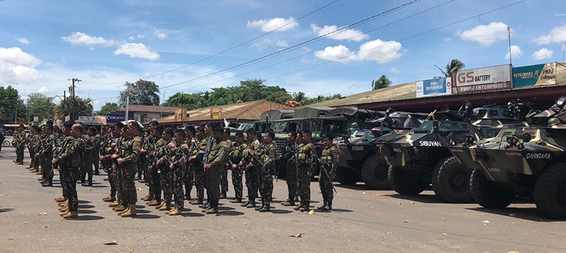 About 150 soldiers were dispatched to Moises Padilla in Negros Occidental on Saturday, following the recent ambush slay in the town. (303rd Infantry Brigade Photo)