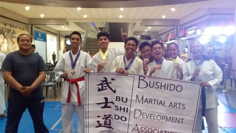 CAGAYAN DE ORO. The Bushido wards of BMDA founding head Michael Pabillore, at left, after a successful campaign in the qualifying tourney in Cagayan de Oro. (Supplied Photo)