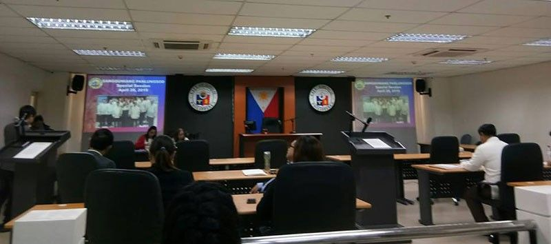 ILOILO. Members of the Iloilo City Council hold a special session. (Photo from Iloilo City Government's Facebook page)